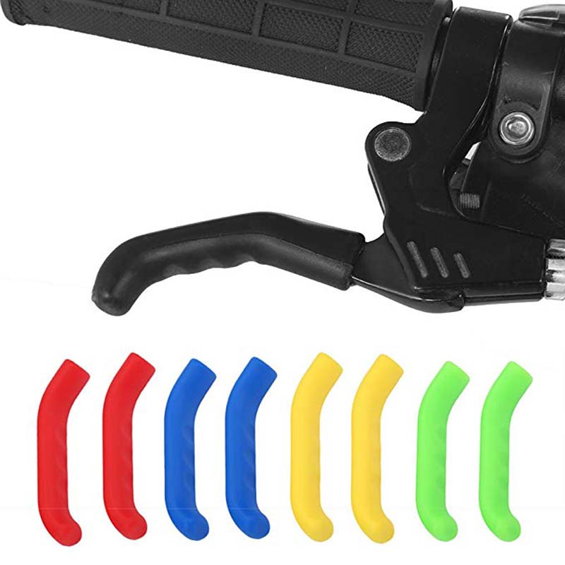 2 Pcs Brake Handle Silicone Sleeve Mountain Bike Brake Lever Protection Cover
