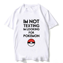Fashion 2018 Anime Pokemon GO Plus Pikachu T Shirt Men Gengar Clothing Funny Go Tshirts Kids boys shirt top tee