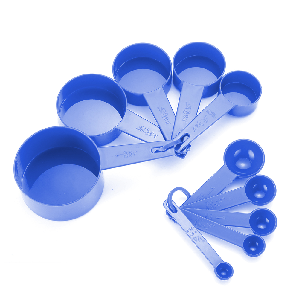 10pcs 7 Color Measuring Cups And Measuring Spoon Scoop Silicone Handle Kitchen Measuring Tool FreeShipping 4