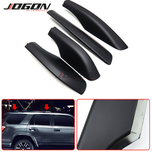 Car Styling 4PCS Roof Rack Rail End Protector Cover Shell For Toyota Fortuner AN50 AN60 Hilux SW4 2004 -2015 Accessories