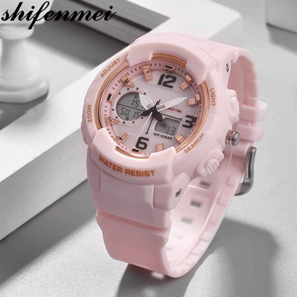 Shifenmei Girls Digital Watch Women Top Brand Watch Children Watch Women Waterproof LED Sport Watches Ladies Bracelet Wristwatch