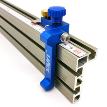 Woodworking Profile Fence and T Track Slot Sliding Brackets Miter Gauge Fence Connector for Woodworking Router saw Table Benches cheap FNICEL Aluminium Profile T-track Other Wood Working Tool 300mm-800mm
