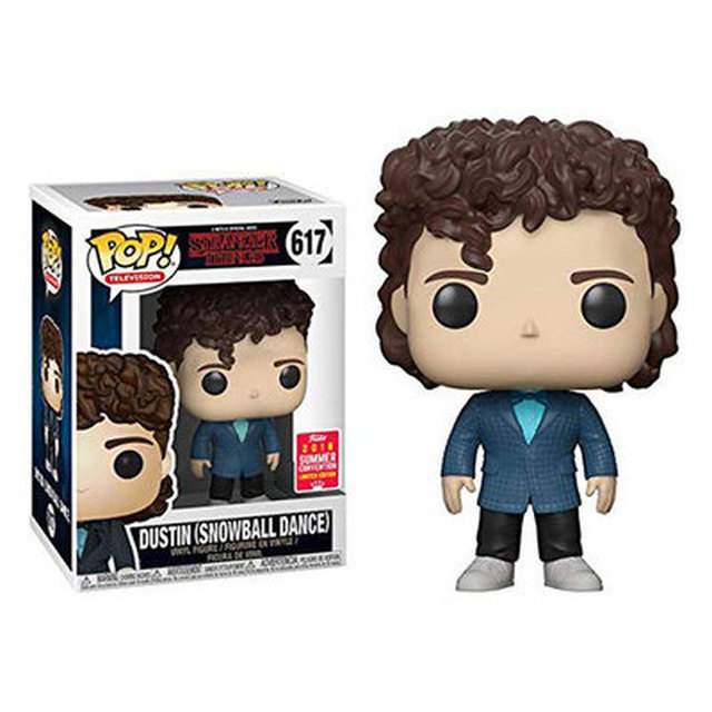 FUNKO POP Stranger Things Action Figure Toys Eleven Dustin Henderson 593# 617# Steve 475# Decoration Model Dolls for Kids Gifts 5