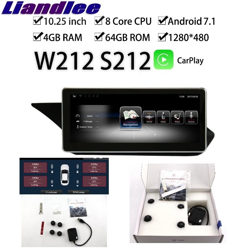 Liandlee autoradio multimédia GPS pour Mercedes Benz MB classe E W212 S212 E200 E350 2009 ~ 2016 CarPlay TPMS Navigation NAVI