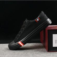Große größe 48 Alle schwarz Neue marke Mode männer Sneaker Wohnungen Schuhe Jungen/Männlichen Casual Leinwand Schuhe Atmungs Tenis schuhe 2019