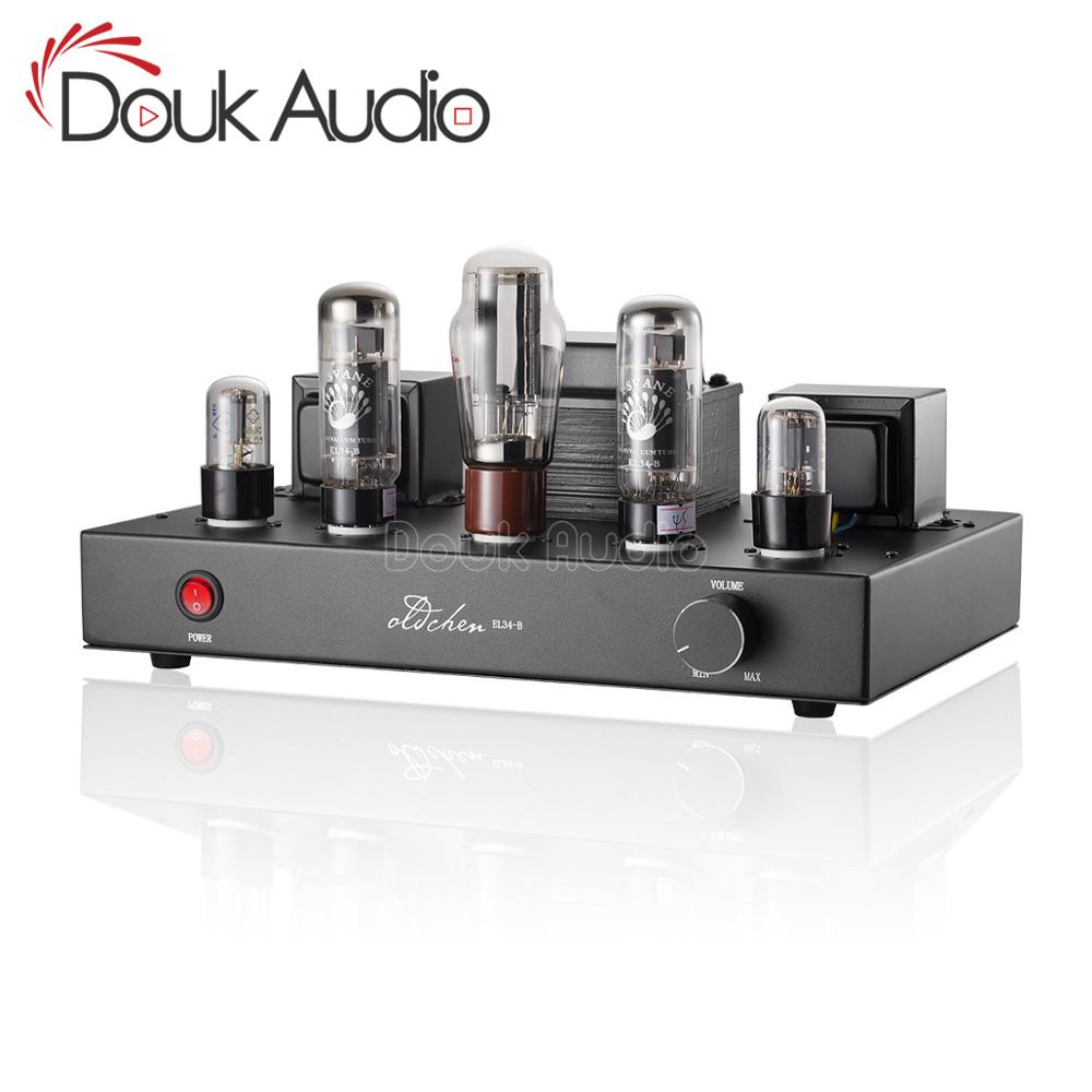 Douk audio Updated 6N9P Push EL34 Valve <font><b>Tube</b></font> <font><b>Amplifier</b></font> Pure Handmade Scaffolding Hi-Fi Stereo Class A Power AMP image