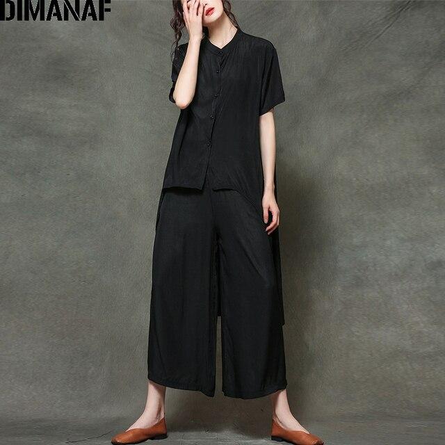 Plus Size Sets Suit Casual Elegance  Tops  Loose Long Pants  6