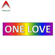 Aliauto Funny Car Sticker One Love Gay Rainbow Accessories PVC Decal Cover Scratches for Motorcycles Jdm Vw Polo Nissan,15cm*4cm(China)