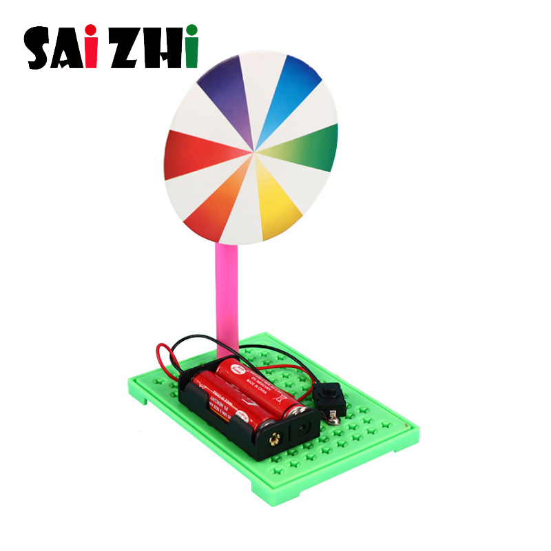Saizhi Kid Assembling Electric Toy DIY Electric Handmade TNewton Plate Toy Optical Experiment Educational Experiment Toys