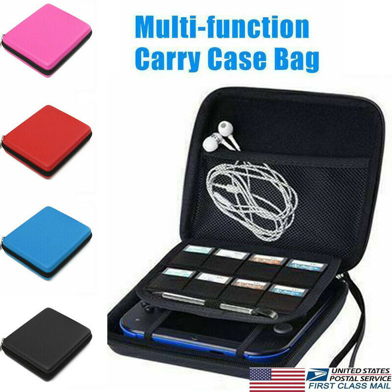 Travel Portable Zip EVA Carry Case Game Card Storage Hard Shell Protective Bag For Nintendo 2DS