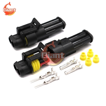 1 Sets 1/2/3/4/5/6 Pin Car Waterproof Connector HID Plug Auto Lamp Truck Automotive BG5001 1.5mm Terminals Electrical Connector image