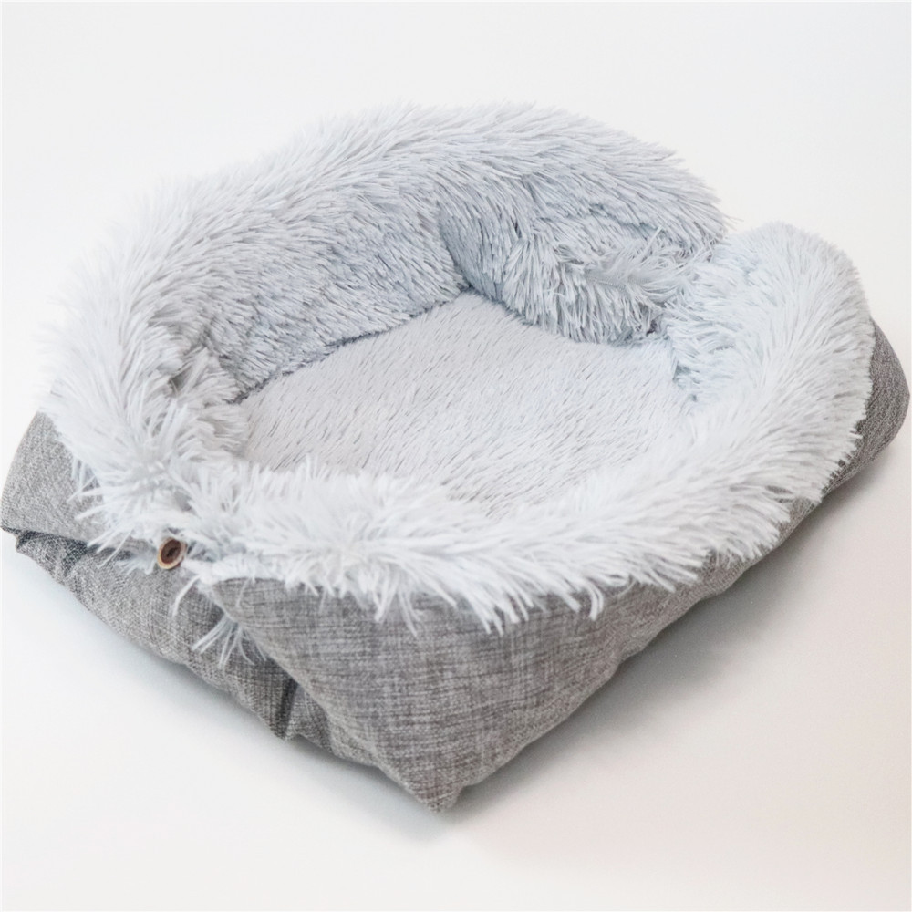 New Soft Cat Bed Rest Dog Blanket Winter Foldable Double use of pet bed matCushion Hondenmand Plush Soft Warm Sleep Mat 9