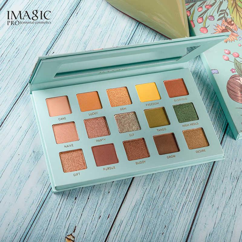 IMAGIC 15 Kleuren Oogschaduw Palet Matte Shimmer Glitter Matte Paleta de Maquiagem Collectie Charmant Oogschaduw Kleurenpalet