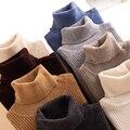 Осенний эластичный свитер PEONFLY с длинным рукавом, Женский пуловер, водолазка, женские пуловеры, джемпер, уличная одежда, вязаные топы, черный...