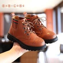 Martin-Boots Boys Girls Fashion Children's Autumn BAMILONG Korean S322 British-Style