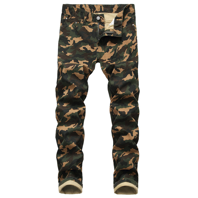MORUANCLE Fashion Men's Camouflage Jeans Pants Slim Fit Stretch Camo Denim Trousers Military Style Jean Joggers Plus Size 28-42