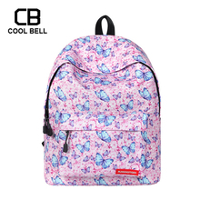 Butterfly Printing School Bags For Girls Cute Casual School Backpack Larger Capacity Travel Backpack Laptop Backpack kids Bag fengdong cute lemon printing school backpack kids computer bag children school bags for girls women laptop backpack 14 schoolbag