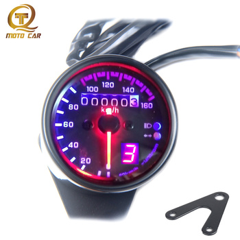 Universal Motorcycle Speedometer digital fuel Gauge Velocimetro Instruments Gear indicator Accesorios for Cafe racer Honda GN125 12v motorcycle lcd digital indicator speedometer motorcycle colors backlight waterproof odometer velocimetro moto universal