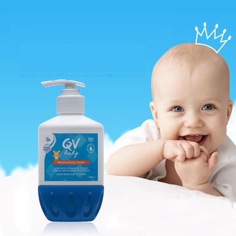 Newest Australia QV Baby Skin Care Moisturizing Cream 250g Body Lotion Long Lasting Relief Dry Areas Eczema Dermatitis Psoriasis image