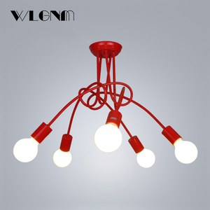Image 2 - Nordic Loft Chandelier lighting,Vintage Industrial Ceiling Lamp,люстра lustre,bending personality for home & store,E27,3/5Lights