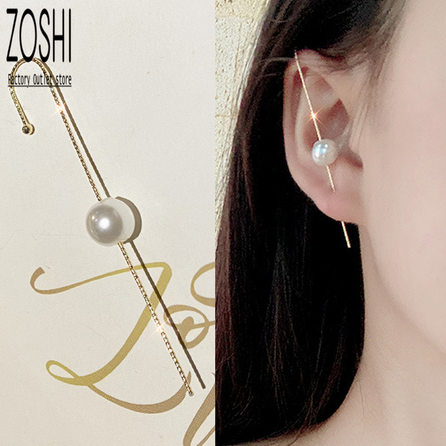 45mm Stick Ear Jacket   Earring Clutch Deco  Party  Jewelry making  Rhodium Plated Brass With silicon  2pcs  eje89