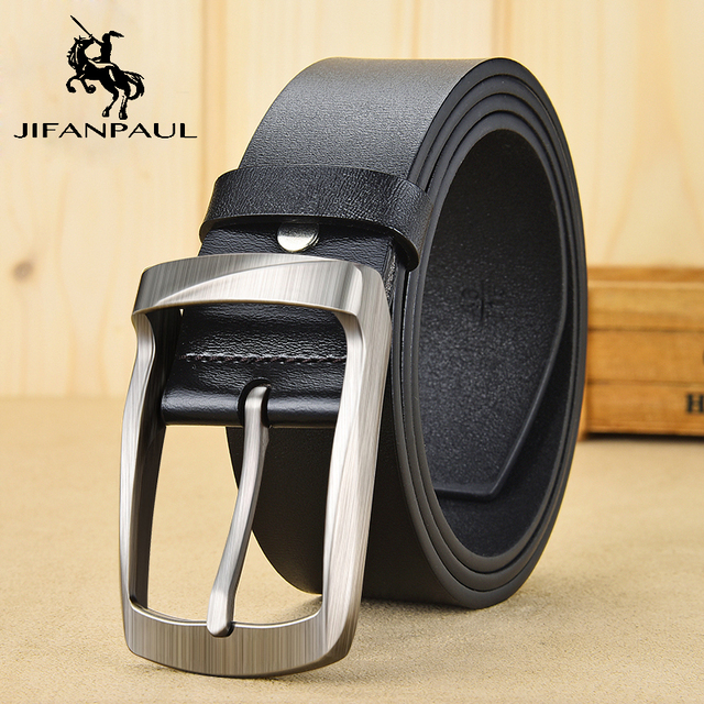 JIFANPAUL  men's business retro fashion belt alloy material pin buckle with trend jeans students high quality belt free shipping