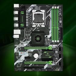 HUANAN ZHI X58 ديلوكس اللوحة X58 إنتل LGA 1366 DDR3 1066/1333MHz 48GB SATA2.0 USB3.0 ATX LGA1366 اللوحة الرئيسية