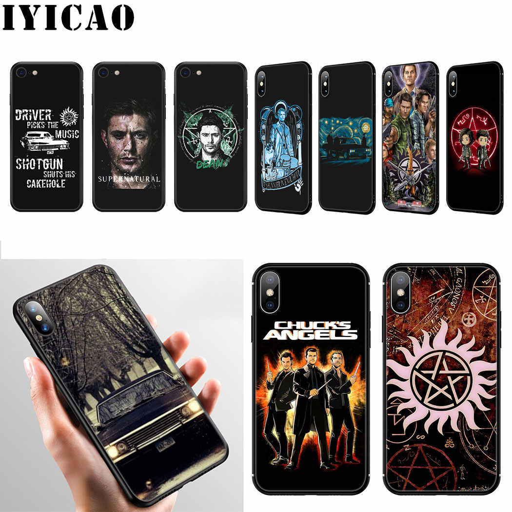Iyicao Supernatural Lembut Silikon Case untuk iPhone 11 Pro Max XR X XS Max 6 6S 7 7 Plus 5 5S SE Phone Case
