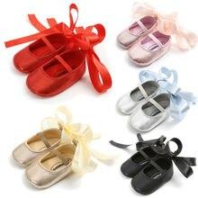 Обувь для малышей; обувь для новорожденных девочек; обувь для малышей с мягкой подошвой из искусственной кожи; нескользящие кроссовки для детей 0-18 месяцев