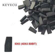 Keyecu 4D63 80BIT 80 Bit 4D ID83 çip oto karbon Transponder çip Ford için