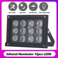 Iluminador LED para exteriores, iluminación auxiliar de visión nocturna infrarrojo IR, impermeable, para cámara de vigilancia CCTV, 50m