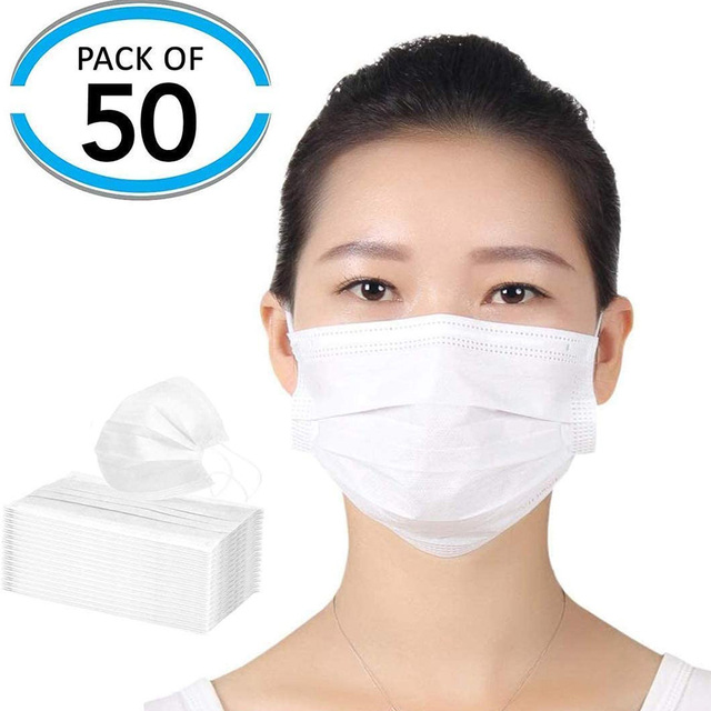 10/20/50pcs Pink Color Non-woven Face Mask  Breathable Mask with Elastic Earband 3