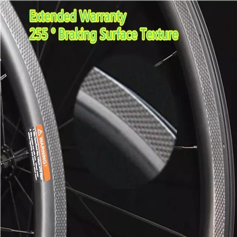 Fish Scale 700C Carbon Wheel 38mm Tubeless Bicycle Wheelset Powerway R36 Ceramic Carbon Road Bike Wheels