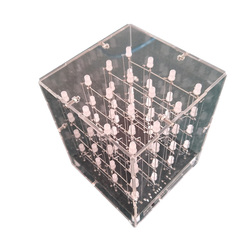 4X4X4 3D Multicolor Led Light Cube Kit Infrarood Afstandsbediening LED Licht Kubus-Eindproduct