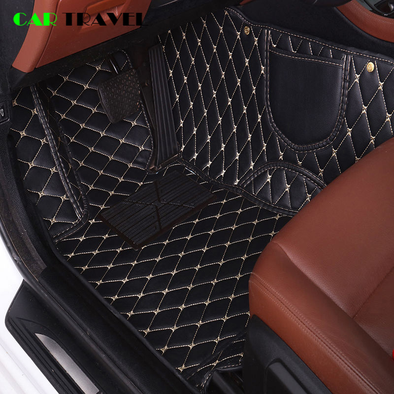 leather Custom car floor mat For nissan qashqai j10 x-trail t31 murano patrol y61 tiida teana waterproof car accessories title=