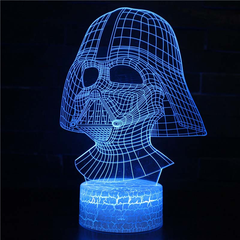 3d Star Wars Figure 7 Color Led Night Lamps For Kids Touch Led Usb Table Lampara Lampe Sleeping Nightlight Drop Ship Crack base