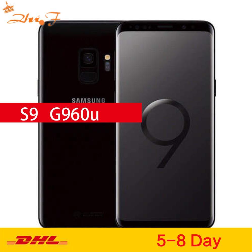 Оригинальный разблокированный сотовый телефон Samsung Galaxy S9 G960U, LTE, Android, Восьмиядерный, 5,8 дюйма, 12 Мп, 4 Гб ОЗУ, 64 Гб ПЗУ, Snapdragon 845, NFC, 3000 мАч