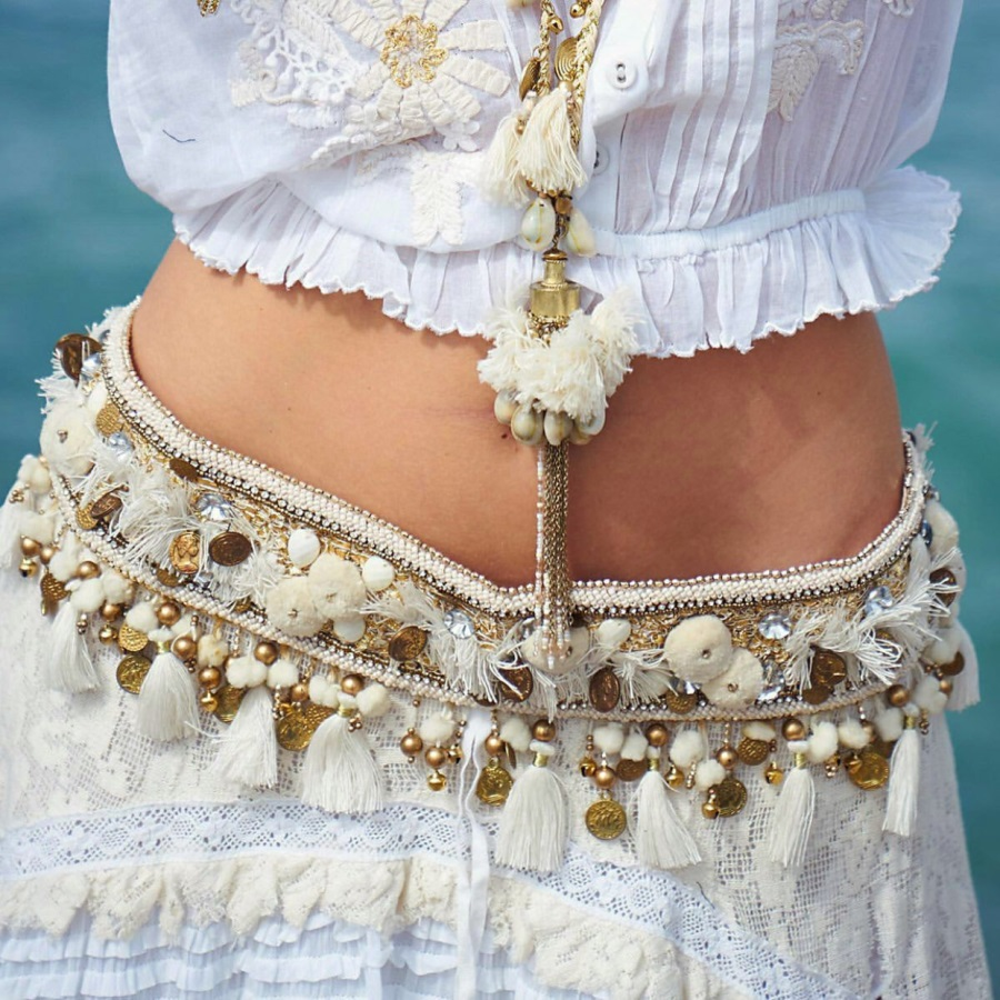 Bohemian Fashion Stunning Gypsy Belt Over Jeans Boho Style For Summer Vocation Beach Jewelry