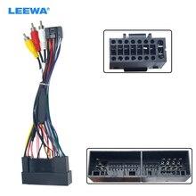 LEEWA 5 סט רכב סטריאו אודיו 16PIN מתאם צמת חיווט עבור יונדאי IX25/KX3/H1 2006 + כוח calbe להתקין Aftermarket # CA1594