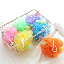 Много цветов банное полотенце скруббер очистка тела утилита сетка Душ мыть в ванной комнате