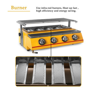 Image 5 - 2/3/4/6/8 Burners Gas BBQ Grills Infrared gas burner Kitchen Barbecue Grill Tools For Outdoor churrasqueira Easily Cleaned