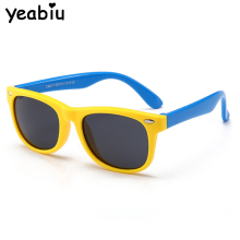 Милые Детские поляризованные солнцезащитные очки для мальчиков и девочек, солнцезащитные очки для детей, силиконовые защитные очки, подарочные очки, детские солнцезащитные очки для малышей