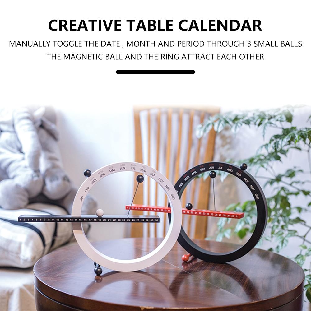 2021 Nordic Style Creative Fashion Time Perpetual Calendar Calendar Manual Office Home Desktop Calendar Best Birthday Gifts
