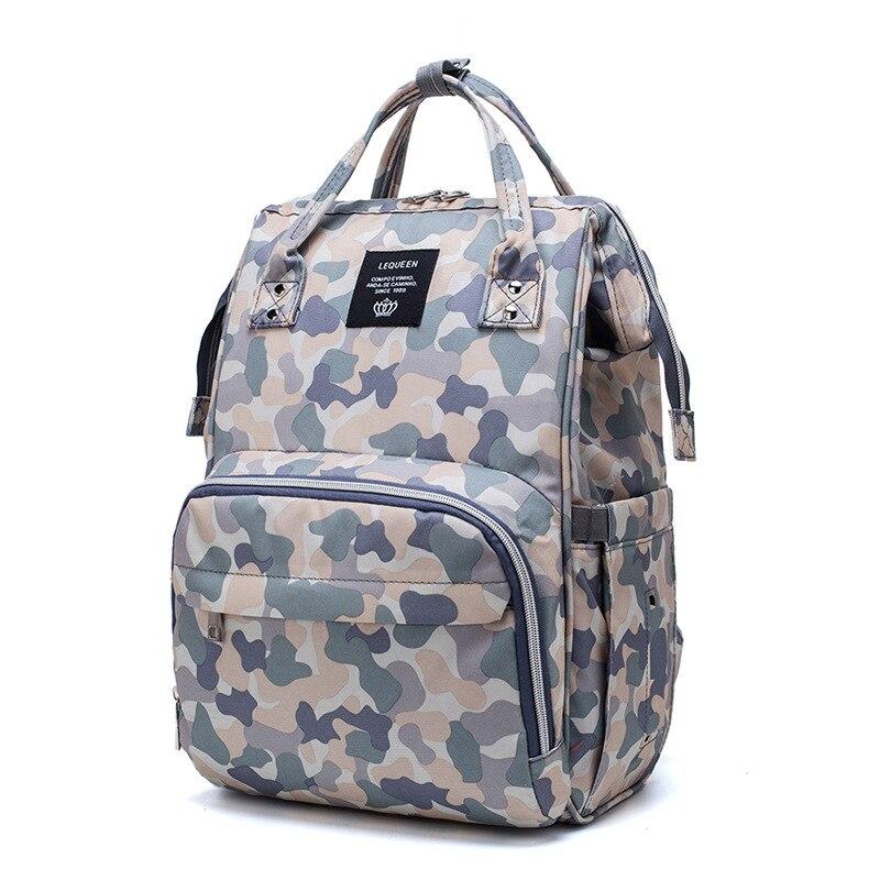 Lequeen-sac à couches de grande capacité | Sac à dos multifonctionnel étanche à l'épaule pour maman, sac à couches nouveau Style
