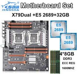 Zestaw płyt głównych JINGSHA X79 z dwoma procesorami z 2 × Xeon E5 2689 i 4 × 8GB = 32GB 1600MHz pamięci DDR3 ECC REG