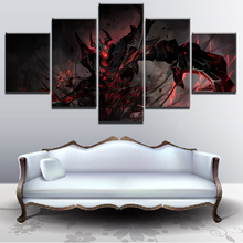 Home Decor Canvas Wall Art Picture For Living Room Modern 5 Panel DotA 2 Shadow Fiend Game Poster HD Printed Abstract Painting