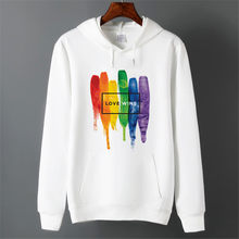 Hommes Pride Lgbt Gay Love lesbien arc-en-ciel sweats à capuche polaire unisexe hiver Harajuku Love is Love sweats à capuche(China)
