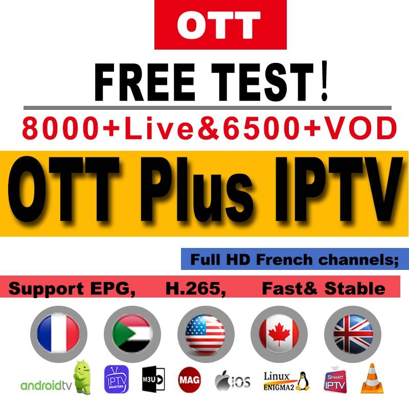 Ott Plus World IPTV France Arabic Belgium Netherlands For IPTV M3u Android Mag Smart Tv IPTV French Canada UK Spain German IP TV