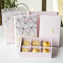 MissYe Store halloween  6-grid dessert cookie package box hand bag for baking decoration