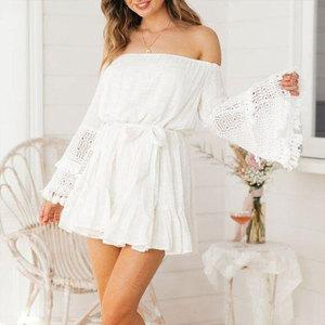 Image 5 - כיסוי קופצים 2020 לבן כותנה טוניקת קיץ טוניקה לנשים וחוף בגד ים לכסות את חוף אישה סרונג palge # Q745